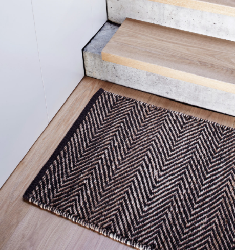 Armadillo&Co. - Serengeti Weave Mat - Charcoal and Natural
