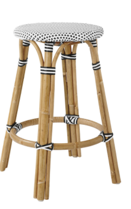 Saint Tropez backless stool - black