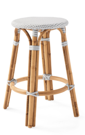Saint Tropez backless stool - Grey