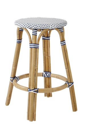 Saint Tropez backless stool - Navy