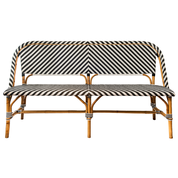 St Tropez Bench Seat - Black and White