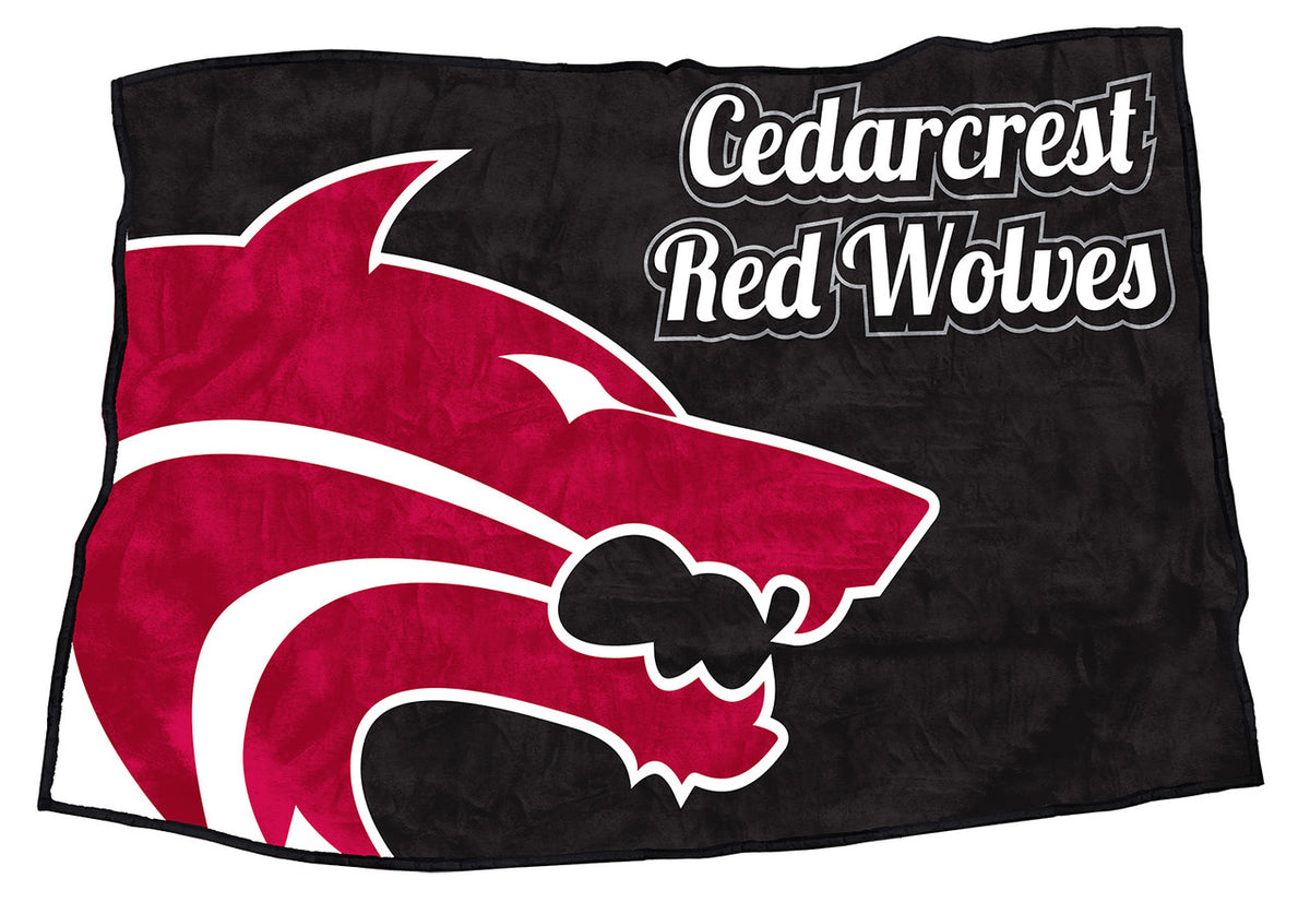 "Cedarcrest Red Wolves 48"" x 70"""