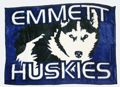 Emmett Huskies high school mascot blanket