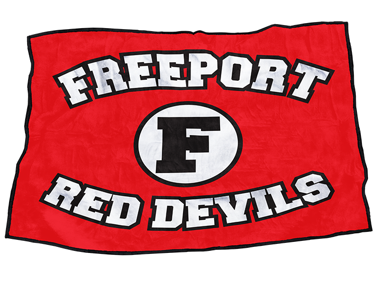 "Freeport Red Devils 48"" x 70"""