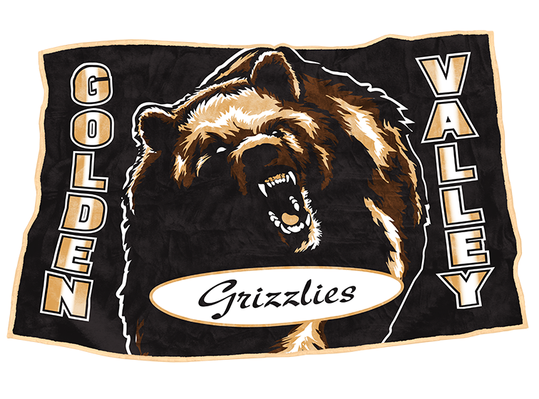 "Golden Valley Grizzlies 48"" x 70"""