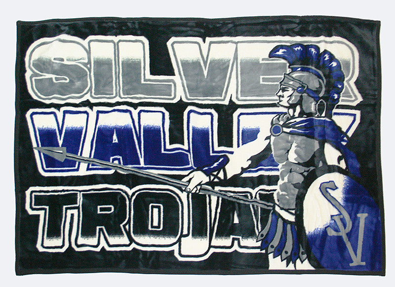 "Silver Valley Trojans 48"" x 70"""
