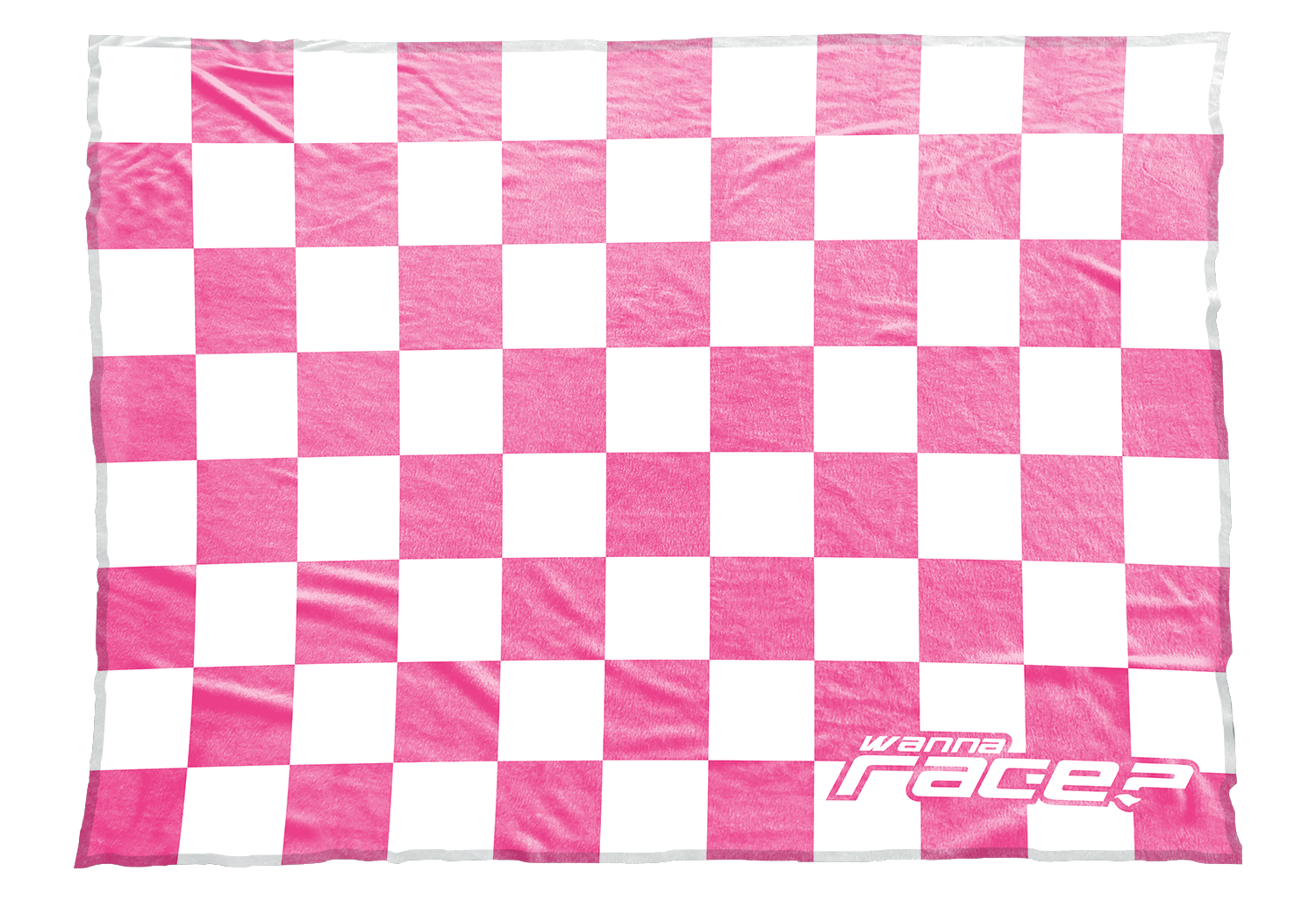 Wanna Race blanket in bright pink