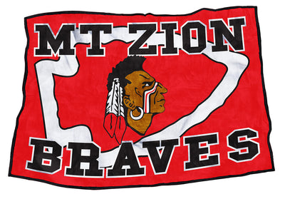 "Mt. Zion Braves 48"" x 70"""