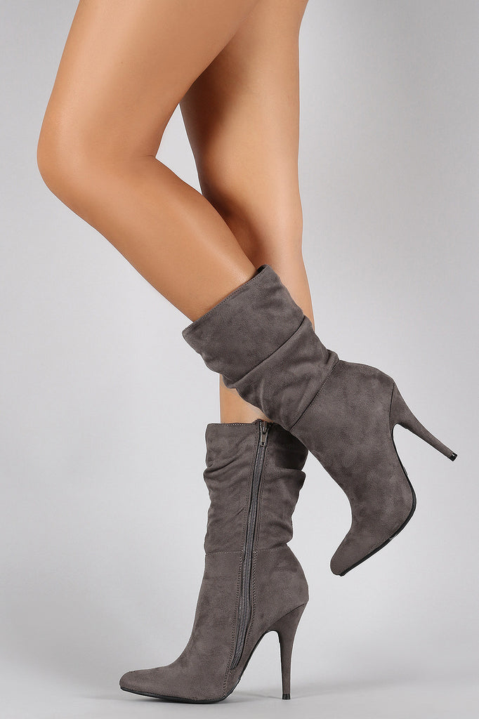 Anne Michelle Suede Slouchy Pointy Toe