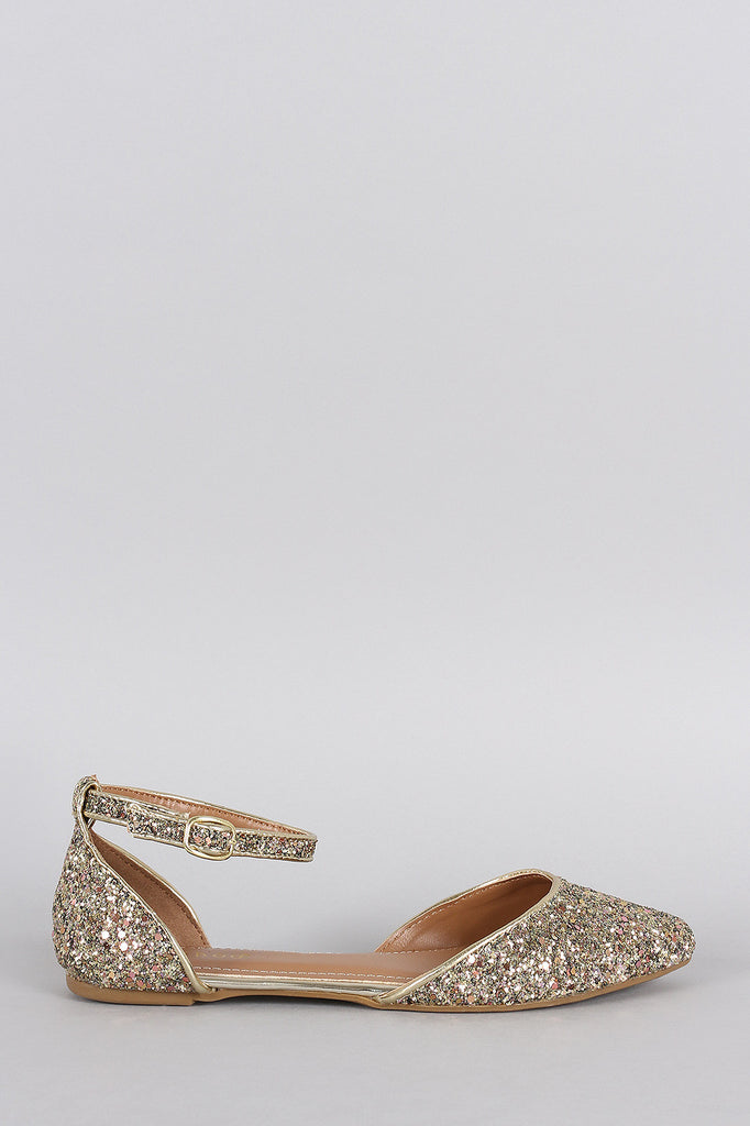 Bamboo Glitter Encrusted Pointy Toe