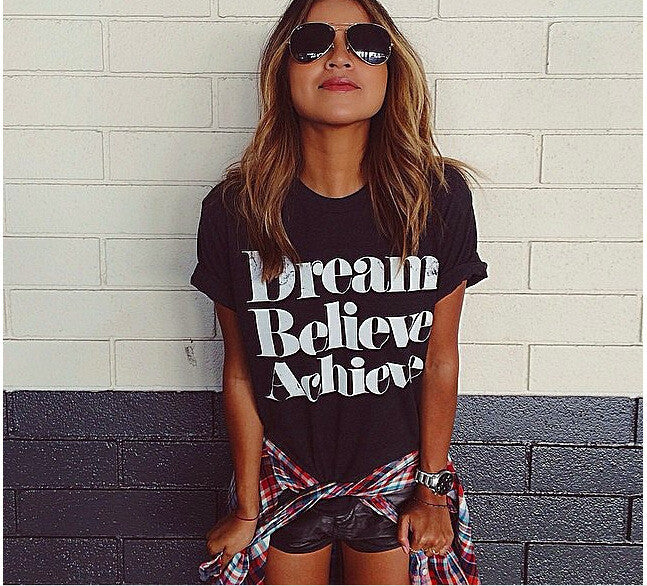 Dream Believe Achieve Womens T-shirt
