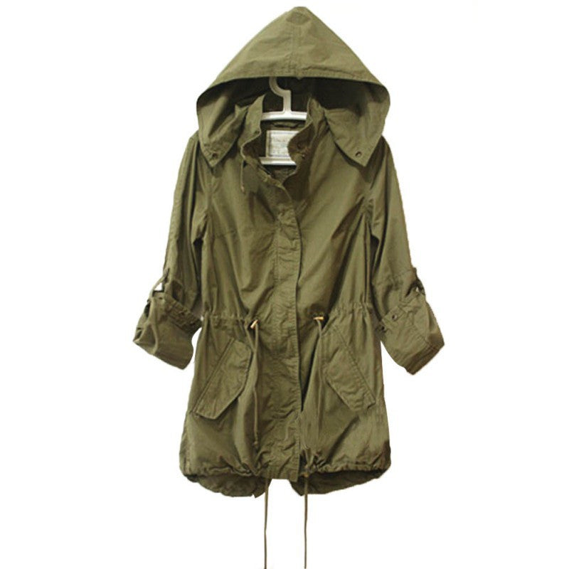 Women Army Green Military Jacket