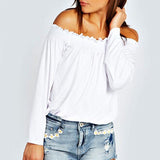Off Shoulder Casual Blouse Shirt