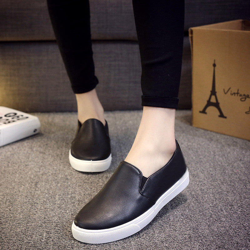 Casual Leather Slip On Shoes