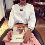New Fashion Casual Sweatshirt College Wind Retro Simple Round Neck Sweatshirt