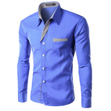New Dress Fashion Quality Long Sleeve Shirt Men Slim Design,Formal Casual Male Dress Shirt