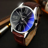Watches Men Luxury Top Brand YAZOLE Fashion Blue Glass Unisex Quartz Watch Women Business Casual Wrist watch Relogio masculino