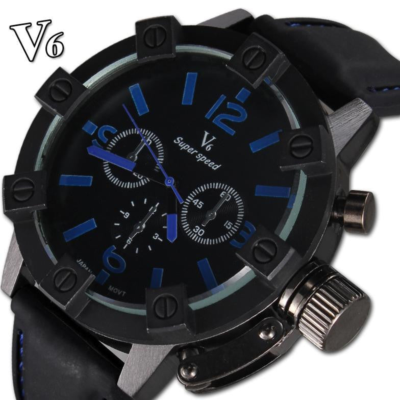 New V6 Watch luxury Brand Sport watches Men Quartz Fashion Watch Military Hour Wristwatches
