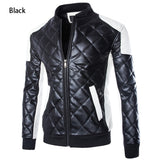 New Motorcycle Zipper Leather Jacket