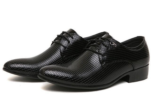 Simple Man Brand Pointed Toe Men Leather Shoes Male Fashion Business