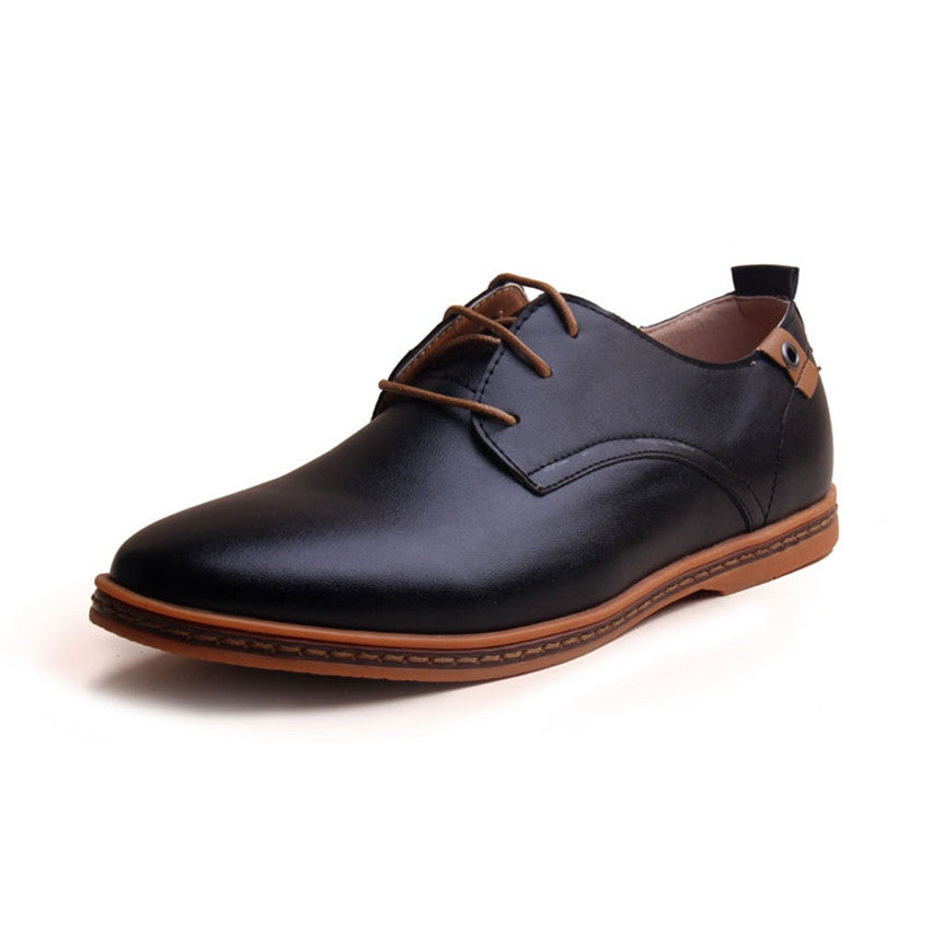 Men Leather Shoes New Fashion 2015 Men Casual Flat Spring And Autumn Oxford Shoes Plus Size Free Shipping