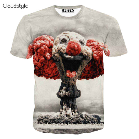 Mushroom Clown Cloud 3D Print T-Shirt
