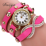 New PU Leather Strap Women Watches Fashion Cross Love Bow knot Pattern women Dress Watch drill wristwatch