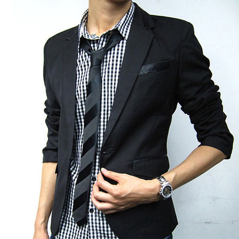 New Spring Autumn Blazer Men Suit Casual Blazers Jacket Slim Fit Mens Blaser Masculino Jackets