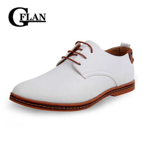 Men Leather Shoes New Fashion Men Casual Flat Spring And Autumn Oxford Shoes