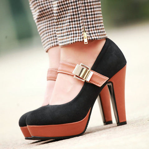 sexy style thin heels mary janes pumps for women new platform high heels pumps shoes