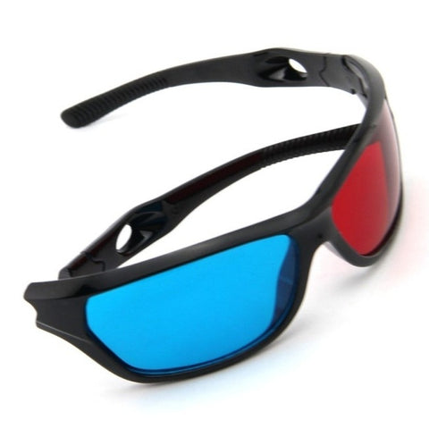 Red Blue Plasma Plastic 3D Glasses