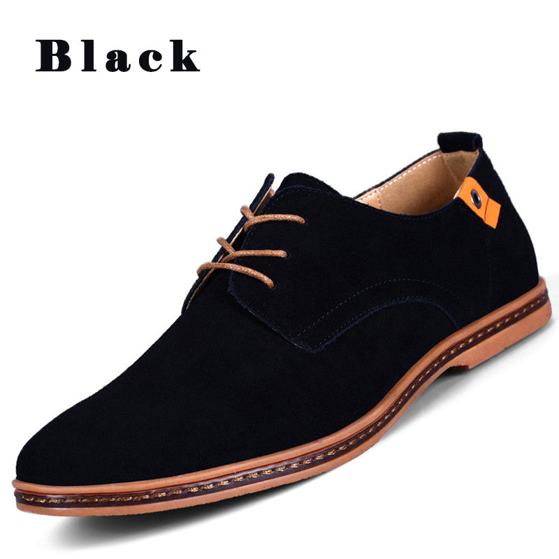 European style Men Suede Leather Shoes