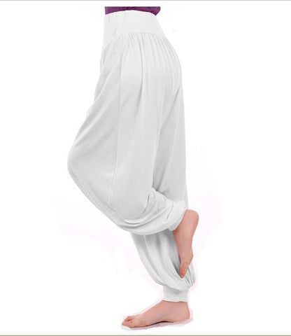 Ladies Yoga Belly Elastic Waist Loose Pants