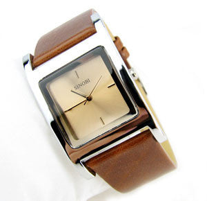 brand new luxury man woman leather watch with crystal on dial