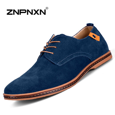 Big Size 38-48 Size European style Men Suede Leather Shoes California Casual Oxfords Shoes best mens loafers