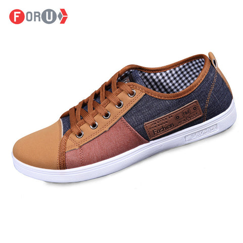 new plimsolls canvas shoes men breathable Fashion patchwork men sneakers men lace-up casual shoes