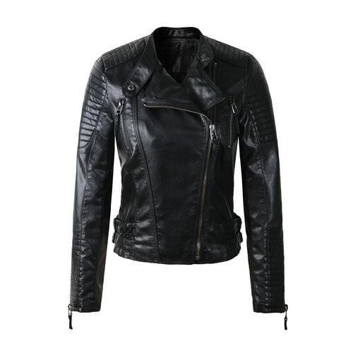Woman Black Leather Jackets