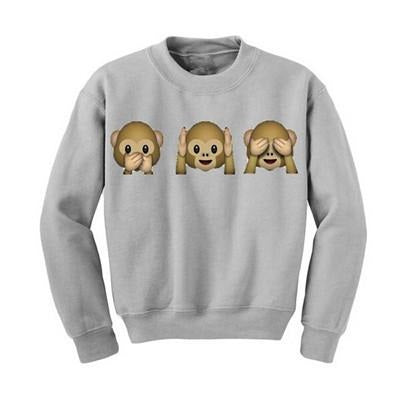 Fall Fashion Women Clothing Cartoon Cute Womens Hoodie Monkeys Adventure Time Sweatshirt Hoddies Femme
