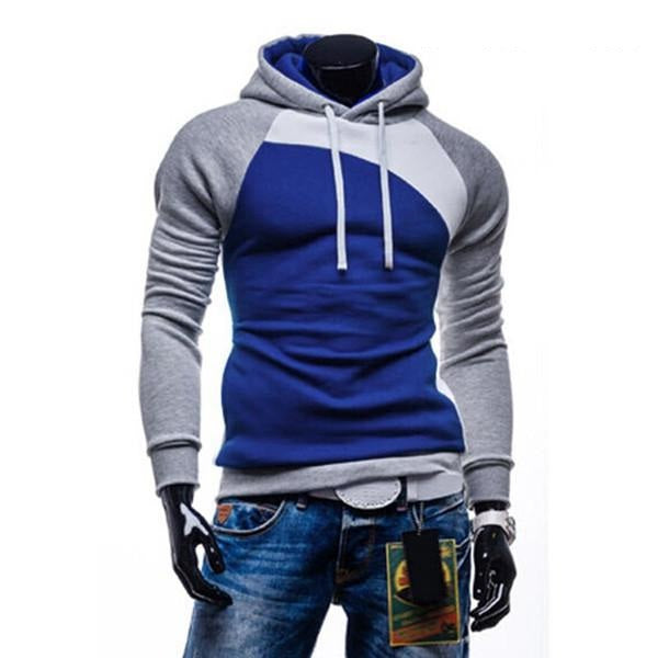 New Autumn Men Casual Brand Hoodies Patchwork Fashion Hooded Fleece Sweatshirt Male Leisure Tracksuits Jacket