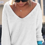 Womens V Neck Knit Sweater