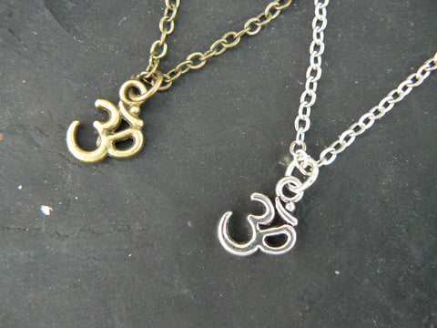 best friends necklace SET of TWO necklace ohm om necklaces