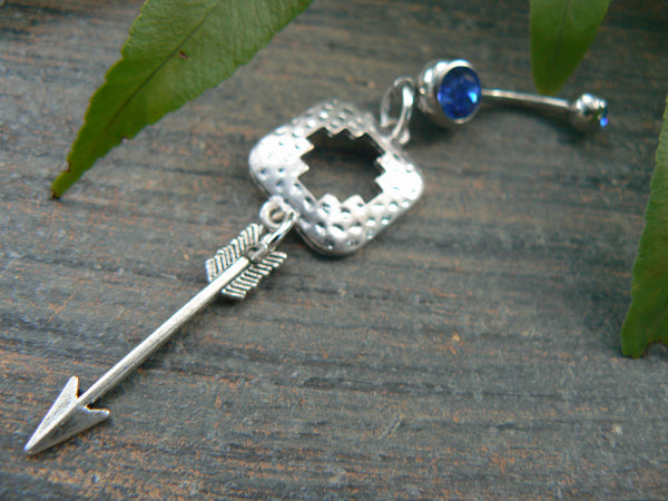 tribal feather belly ring tribal belly ring in tribal fusion southwest tribal boho and hipster style