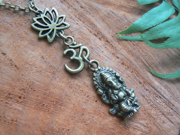 spiritual necklace Ganesha necklace zen necklace buddha necklace yoga necklace