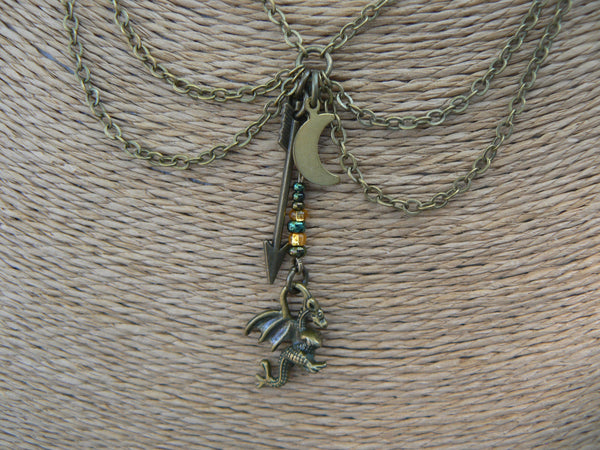 dragon necklace,choker necklace, fantasy necklace, cosplay, green, festival necklace, medieval,Renaissance