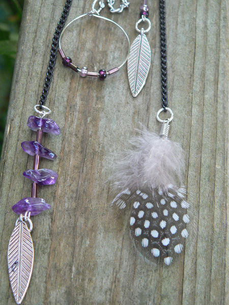 amethyst feather ear cuff wrap native inspired