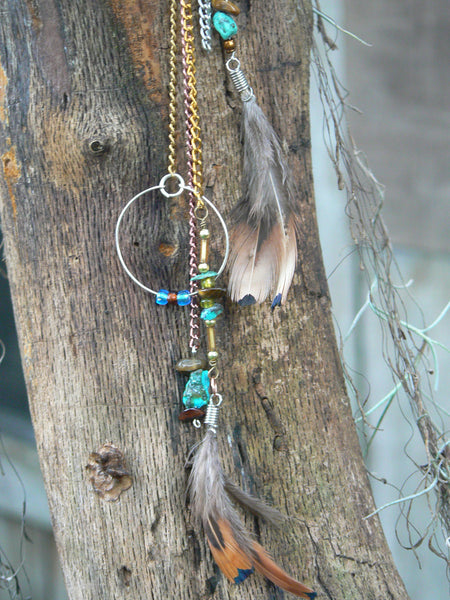 turquoise tigers eye ear cuff wrap native american inspired and tribal gypsy boho hippie style