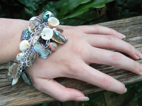 abalone seashell bracelet resort wear  mermaid bracelet