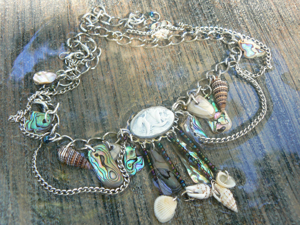 Mermaid Abalone Necklace  This abalone mermaid necklace  will have you feeling like a mermaid ....STUNNING