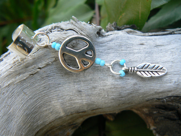 peace sign ear cuff peace cuff   in hippie boho gypsy hippie hipster tribal bohemian  boho style