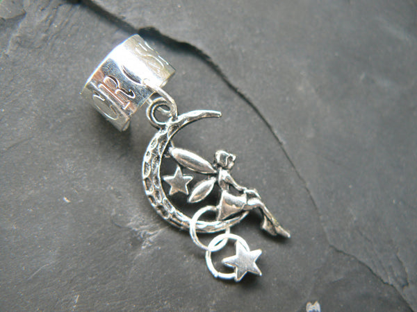 fairy on moon ear cuff